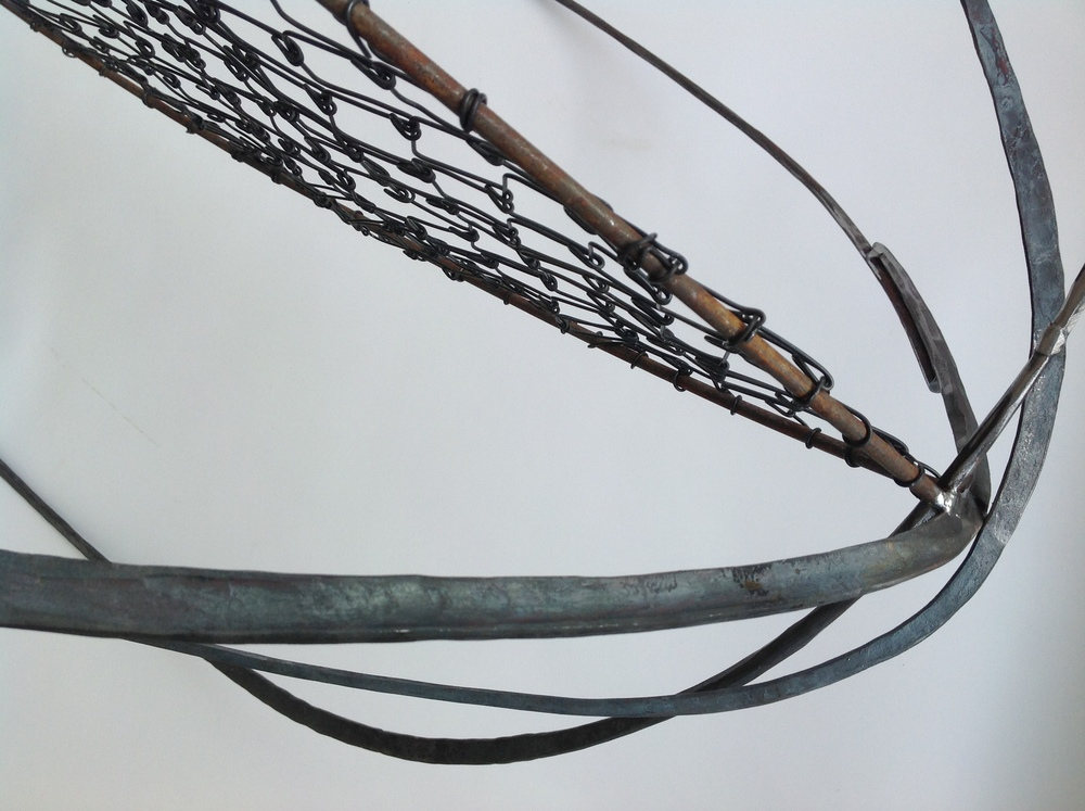 "Kernel 3, detail, 2014, wire and steel, 33"" x 28"" x 28"""