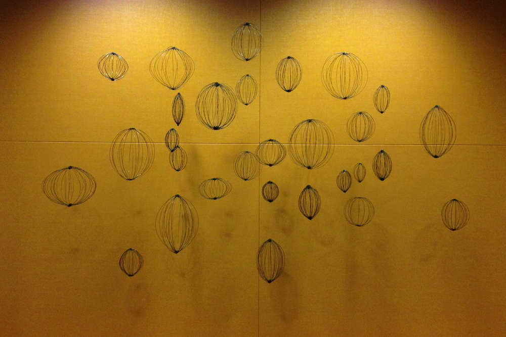 """Seed"", 2013, wire, 8' x 12' x 1.5'"