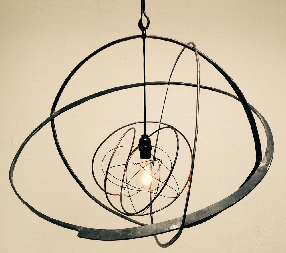 Stellar Hanging Light, designed in collaboration with blacksmith Shawn Lovell of Shawn Lovell Metalworks, 2014-2015