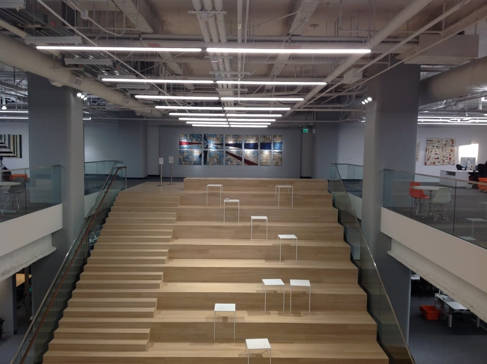 """Where in the World"" at Square Headquarters, SF, 2016, permanent installation"