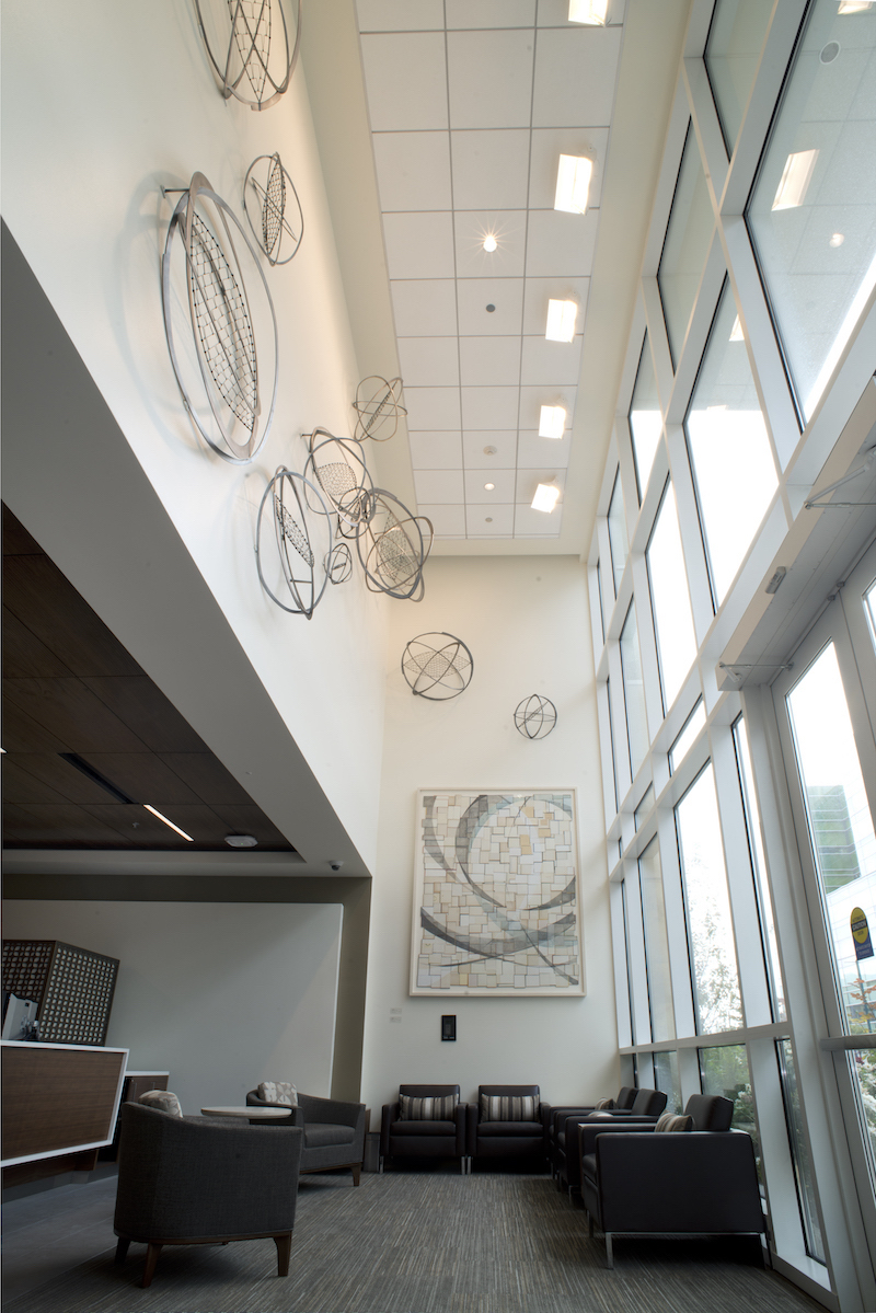 Permanent Installation in main lobby of the Stanford Medical Center in Emeryville, CA.