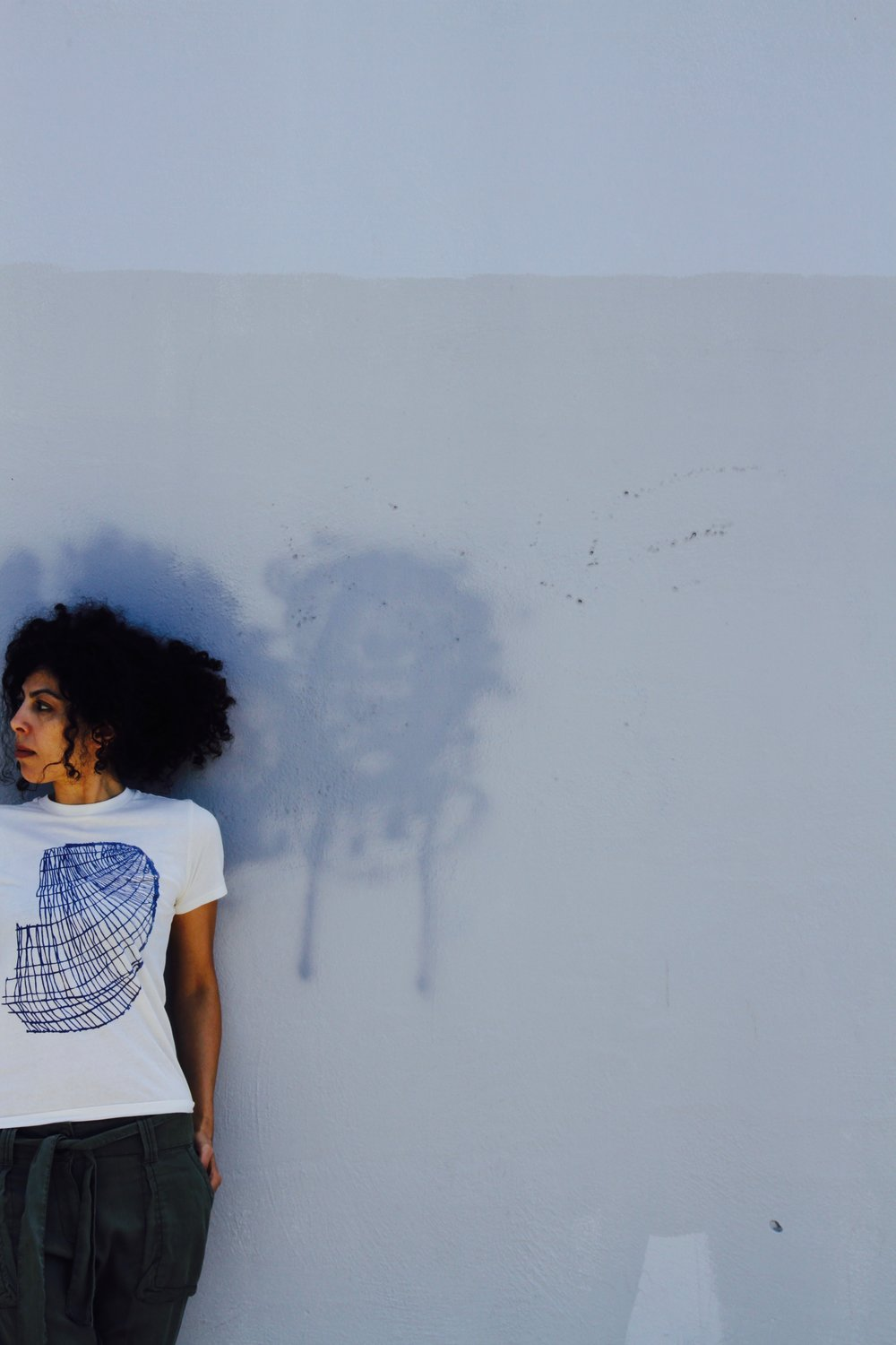 Limited edition cotton tee with E.Payne drawing screen printed in blue. A joyous collaboration with Nan Collymore who is selling them on her gorgeous site! Also available at Erica Tanov stores.