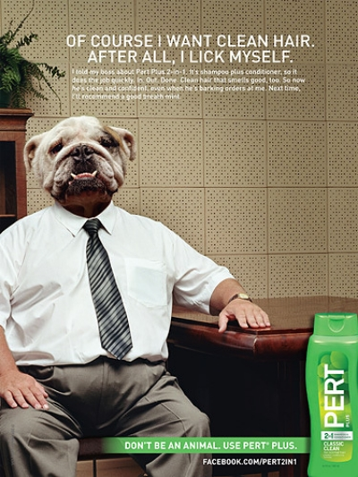 Pert Plus Animals Print Ad - Dog