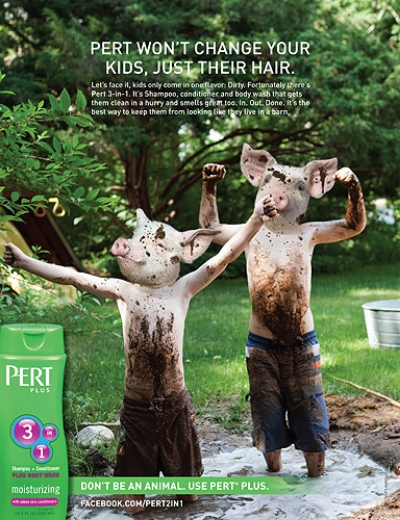 Pert Plus Animals Print Ad - Piglets