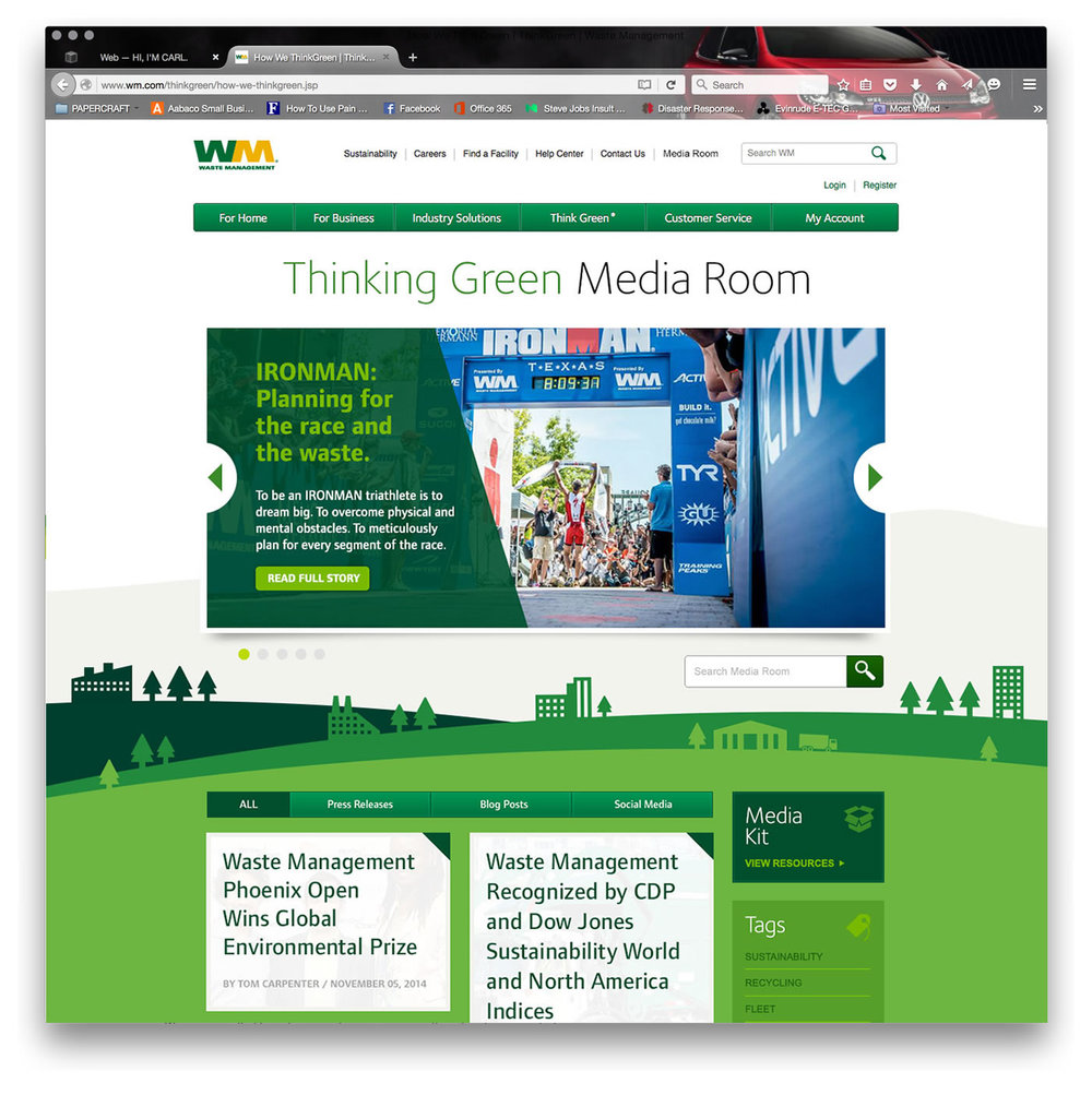 Waste Management Think Green Media Room