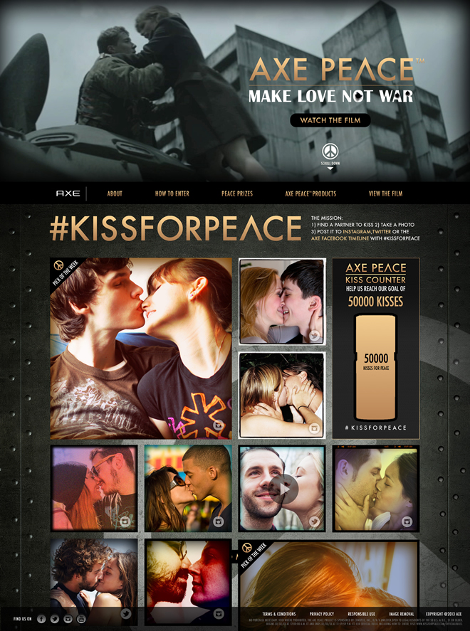 AXE - Kiss for Peace Website
