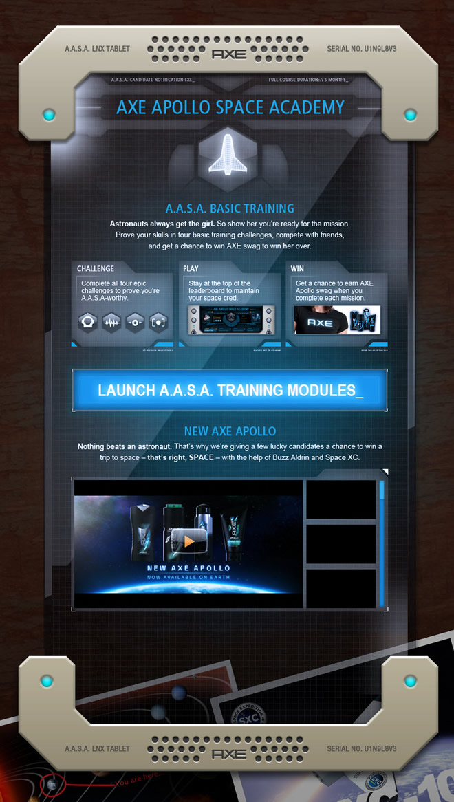 AXE - AXE APOLLO SPACE ACADEMY Website