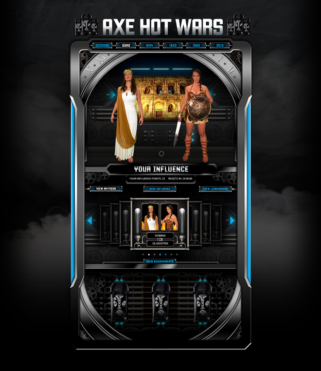AXE - Hot Wars Website