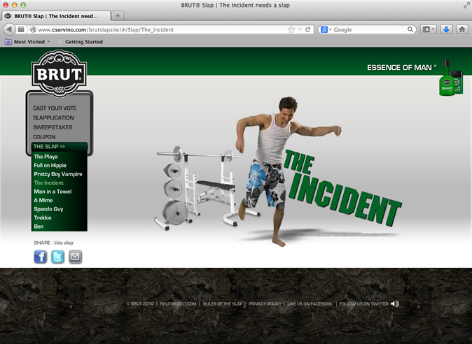 Brut - Brut Slap Website