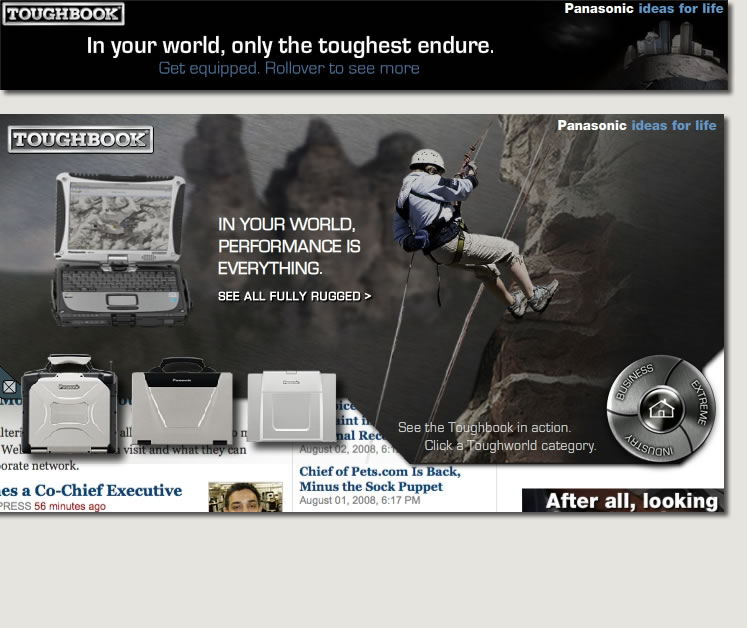 "Panasonic Toughbook - ""ToughWorld"" Interactive Banner"