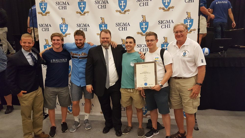 In addition to the current brothers, we were honored to be pictured with Ethan Pickering, last years International Balfour Award winner, Tommy Geddings, the newly elected Grand Consul and Rich Hronek, a current Grand Trustee.