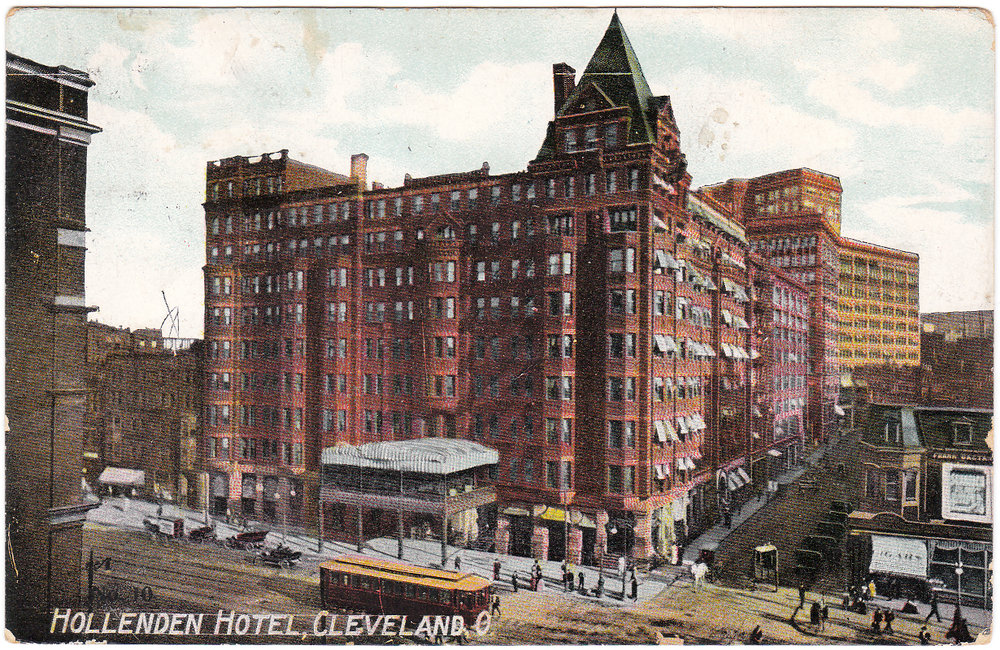 - Hollenden Hotel, formerly located on Superior and E. 6th, where the chapter celebrated the establishment of the charter in 1909.