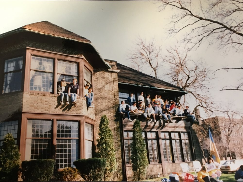 - Brothers having a good time at the house on 11318 Bellflower during the 80s.