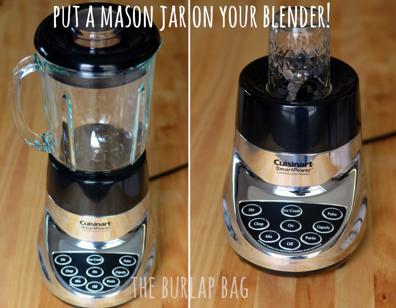 Mason Jar On Blender