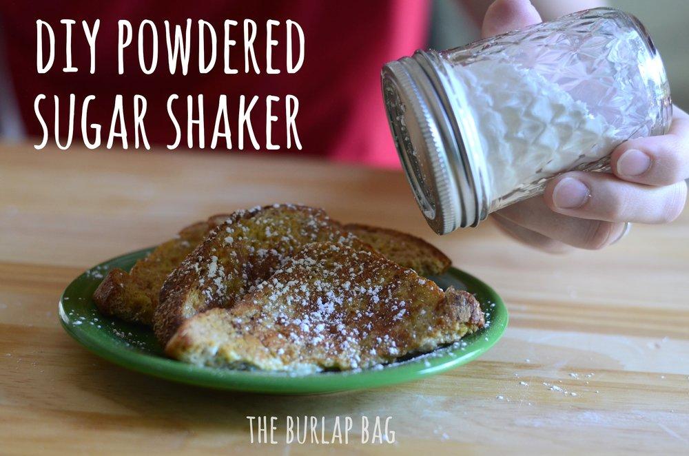 DIY powdered sugar shaker - The Burlap Bag