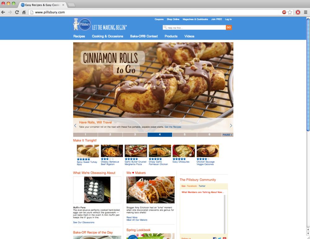 Pillsbury.com screenshot with The Burlap Bag's post!