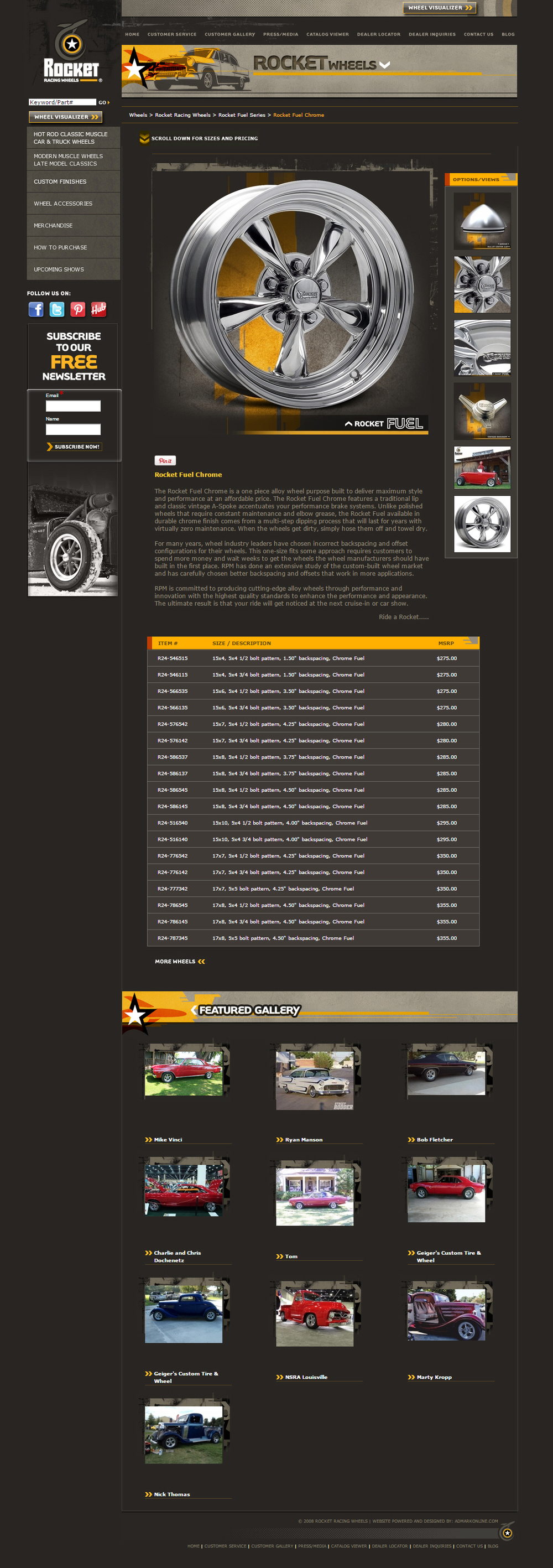 Rocket Racing Wheels Website