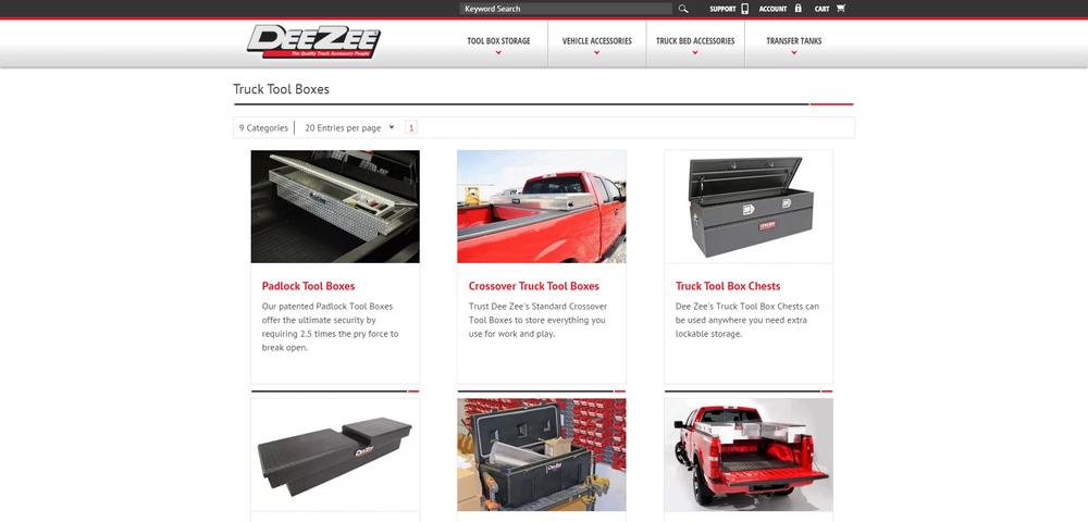 Deezee Website Categories