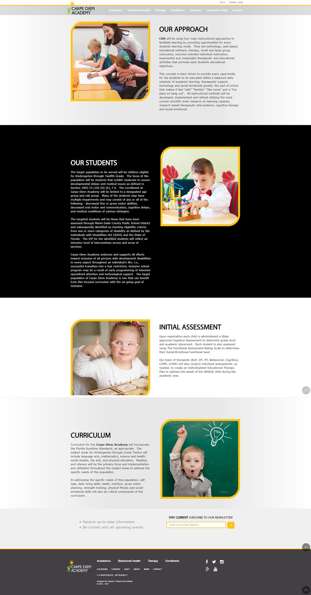 Carpe Diem Academy website
