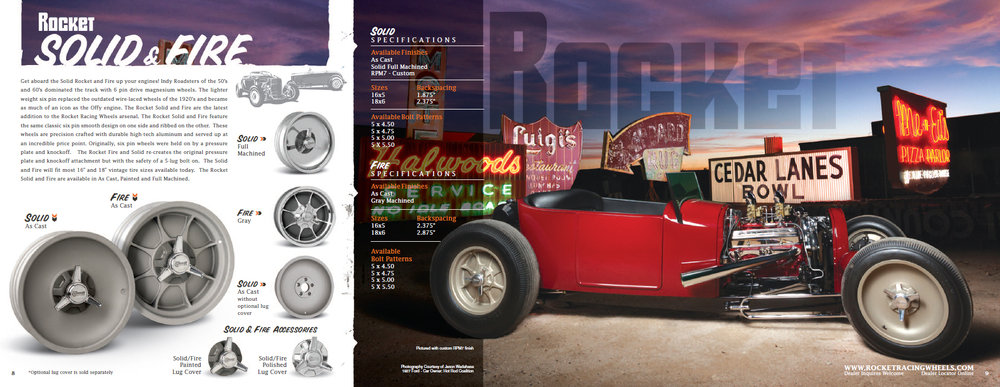 Automotive Wheel print ad design