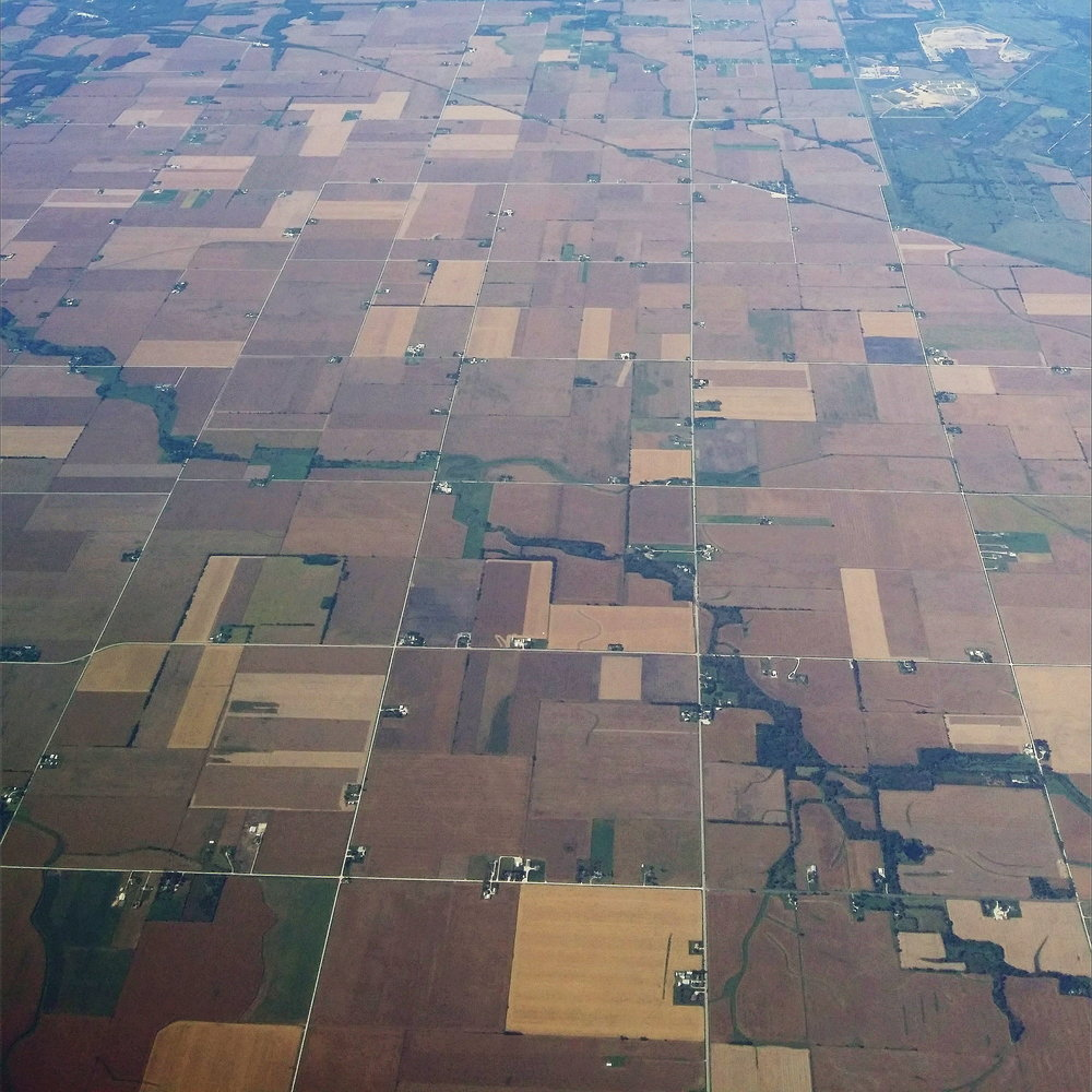 aerial picture indiana farmland