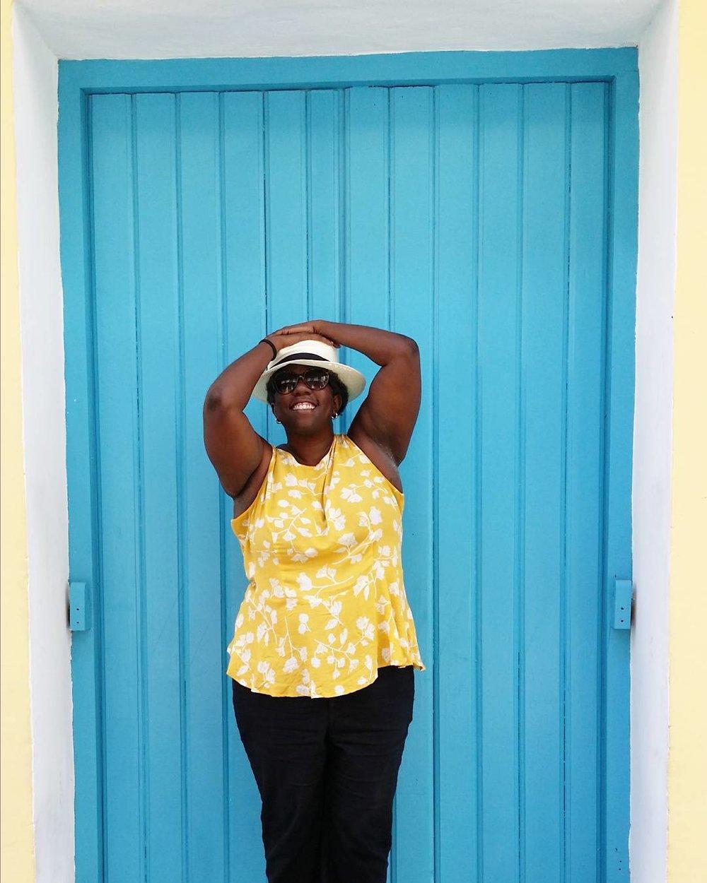 Blue Door In Havana Vieja