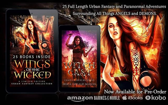"💜❤️💜 Final days! Get Wings Of the Wicked at the special preorder price. Link in bio.💜❤️💜 Yaga looked at her coven with pride. They looked relaxed and sure of themselves, totally prepared to wreck the humans. Winnie flew to a tree and stood on a limb. She took a deep breath and began an incantation.  Let the wind do my bidding Let the wind be my arms These men wish us dead Instead, cause them harm.  The wind howled as it poured into the meadow, pressing the men flat against the ground. One man in a red shirt begged for mercy from the witches, and his friends waved their hands in surrender. The first man, the man who wanted to fight, crawled to the edge of the meadow and pressed his back to a tree trunk. He edged his body up until he reached a standing position. He motioned for his friends to follow him, and the men made their way to the trees. Winnie motioned for the wind to follow the men, but the trees gave the group too much cover. Minnie held up a hand to stop Winnie and pointed at Yaga.  The young witch summoned a flock of white owls to fly into the men. As the birds flapped and clawed at their skin, the men ran into the meadow to escape the attack. One man made a move to run into the forest, but another man, a man in black, grabbed him back. He shouted something at his friend that the witches could not hear. The group fumbled with their guns and struggled to aim them at the witches above them. Yaga clapped her hands, and the owls disappeared into the night.  Minnie looked at her sisters, who waited for their orders. ""Let them suffer your fury, sisters."" #wingsofthewicked #bookworm #flashesofdelight #livethelittlethings #thehappynow #99cents"