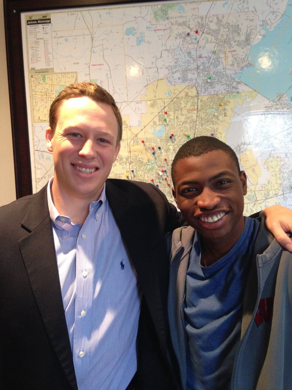 Samuel and ministry partner, Cameron Tate, with Bridging the Gap Outreach Ministries