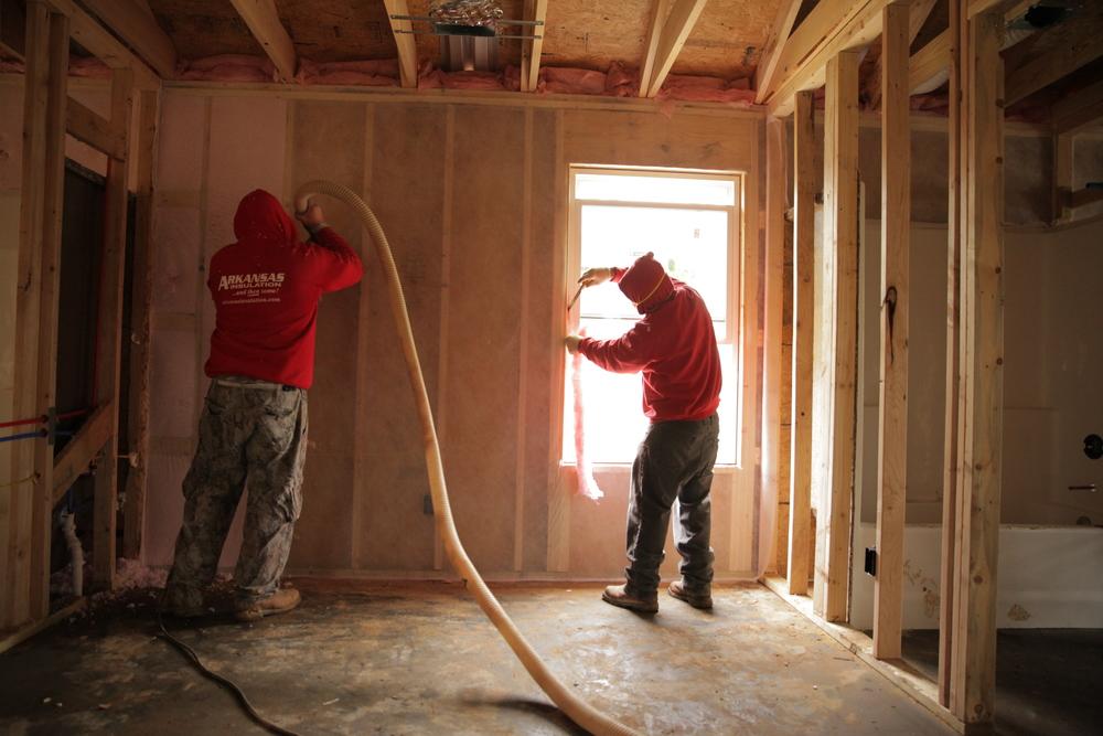 blown-in insulation installation