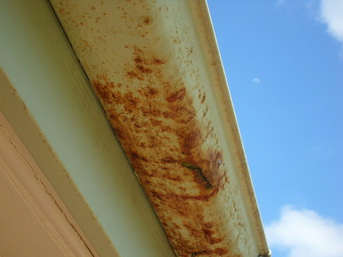 Repair rusty gutters