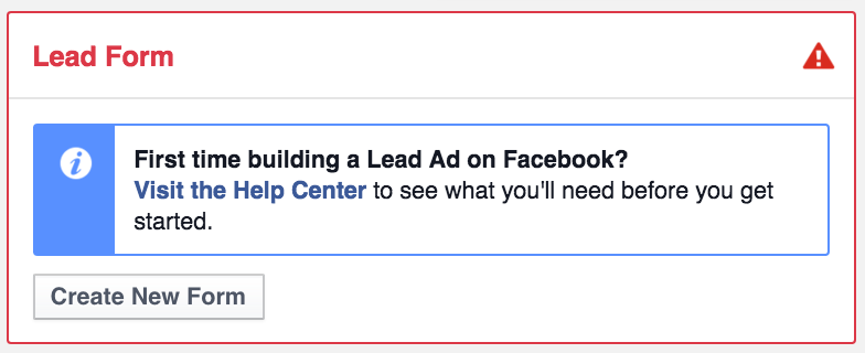 Facebook Lead Forms