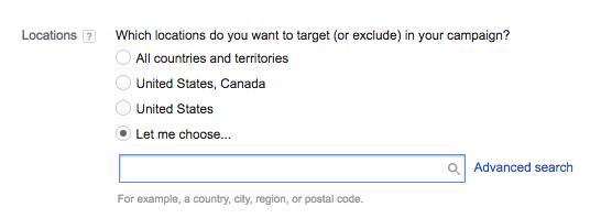 Choosing location image