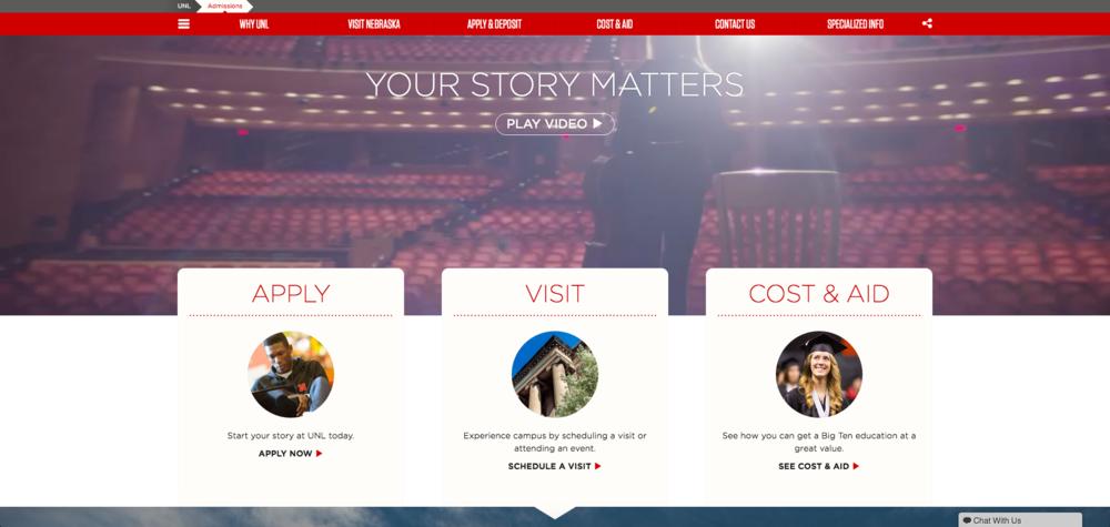 admissions website