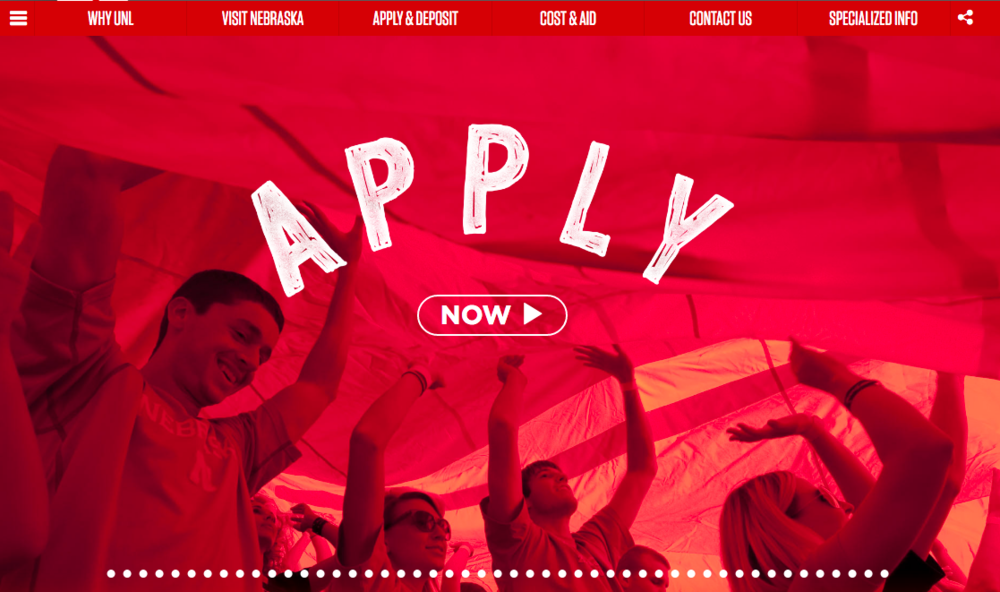 University of Nebraska's application site