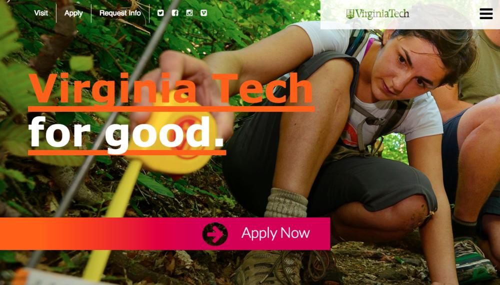 Virginia Tech for good.