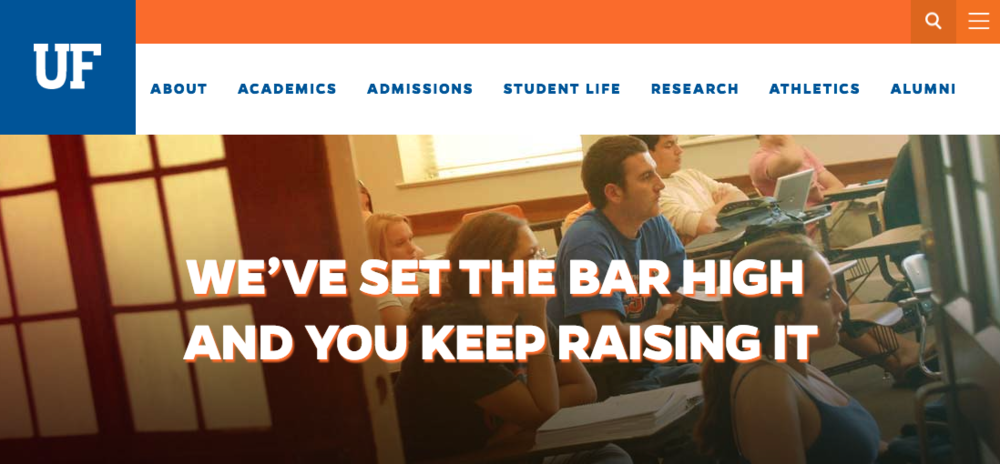 The University of Florida uses naturally powerful language to increase conversions