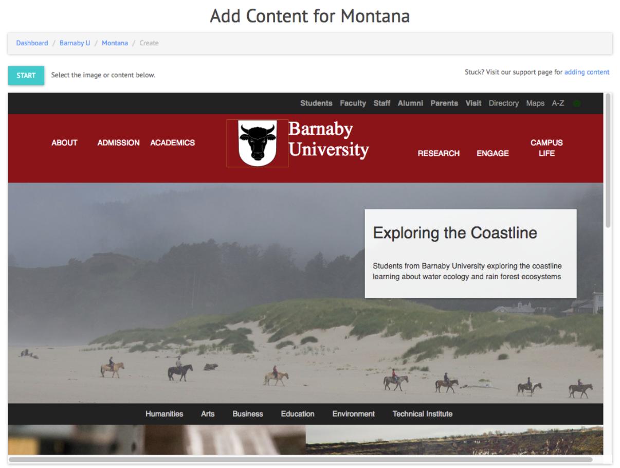 Example of GeoFli website that is ADA compliant