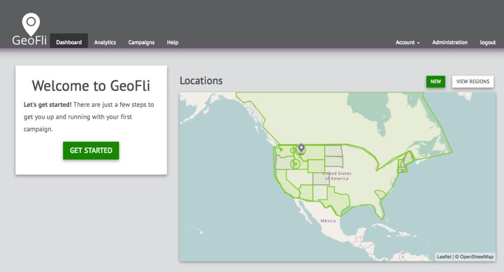 GeoFli 3.0 Starting Dashboard