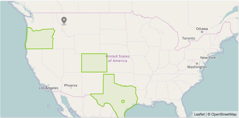A snapshot of GeoFli's geotargeting UI.