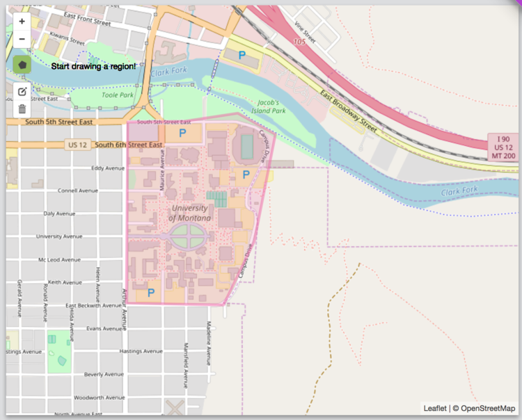GeoFli Custom Draw Tool to geofence a wesbite for the University of Montana