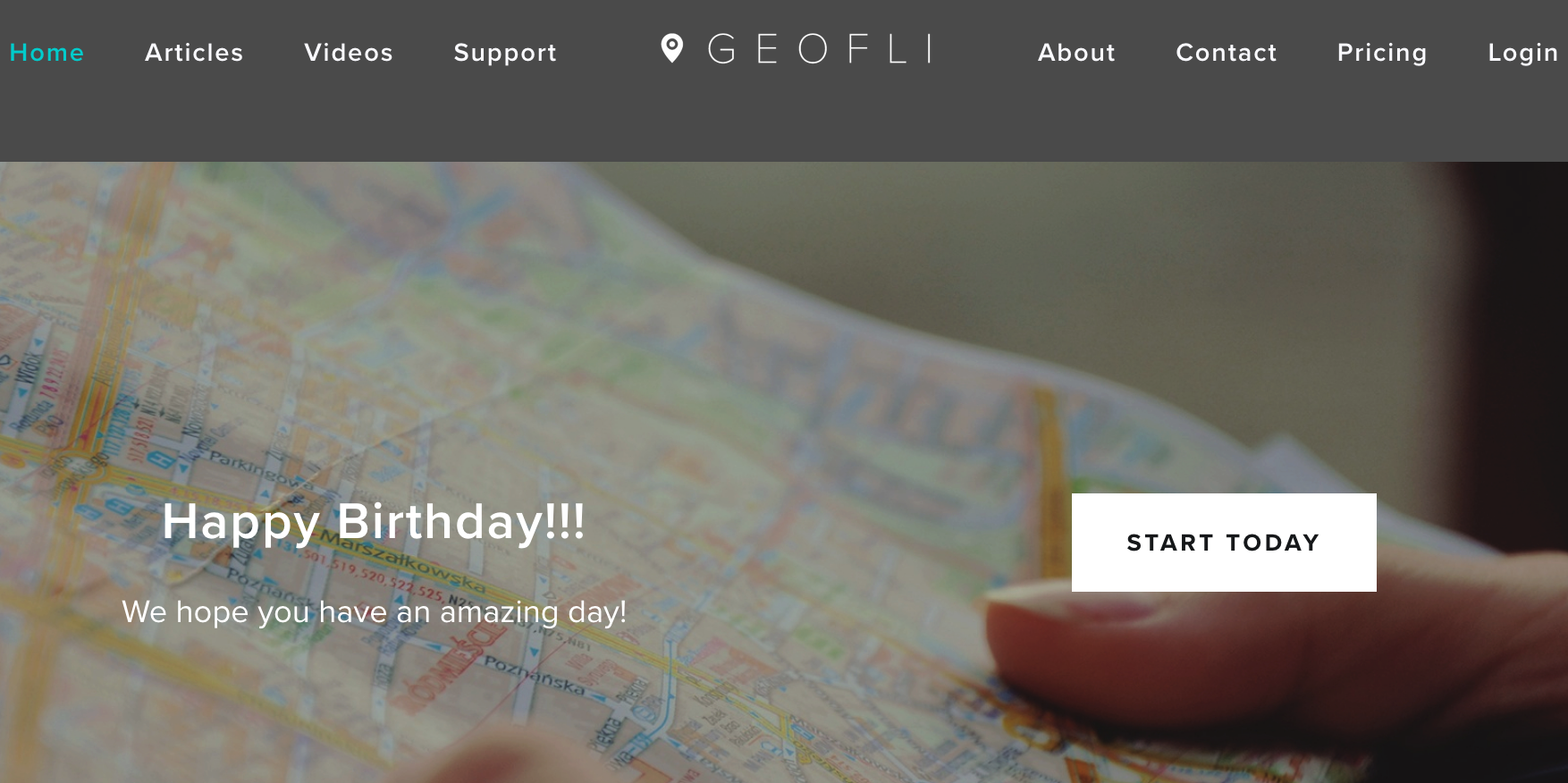GeoFli Happy Birthday