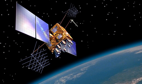 Image of a GPS satellite, which is the key to geofencing and ip targeting