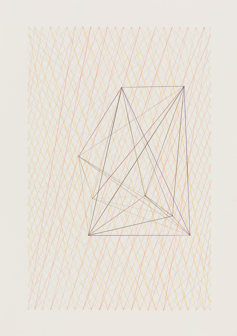 Chance Forms #13  (2018), coloured pencil on paper, A3, image by Document Photography