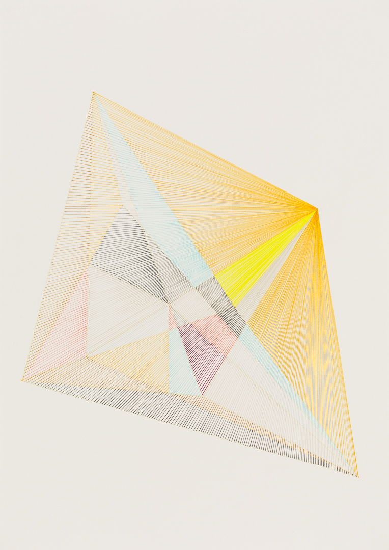 Chance Forms #14 (2018), coloured pencil on paper, A3, image by Document Photography