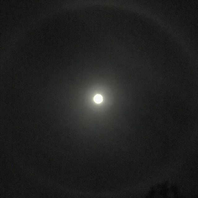 Moon Halo #sandiego #moon #sky #nightphotography