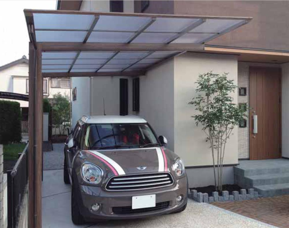 ever artport covet international cantilevered car port single car width