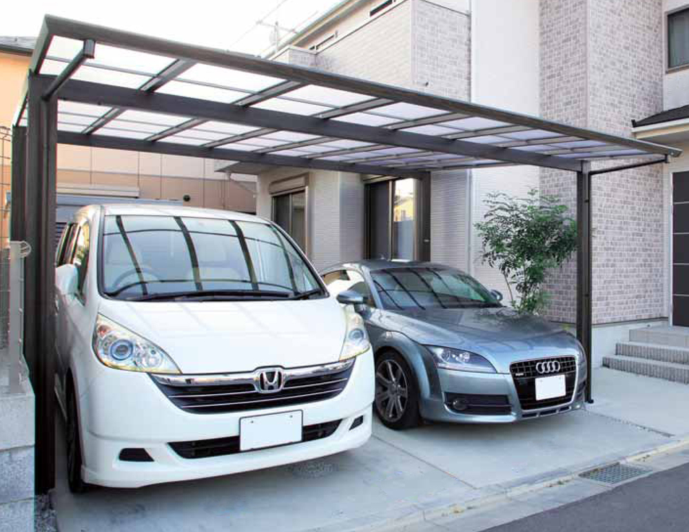 4 post car port Double car width