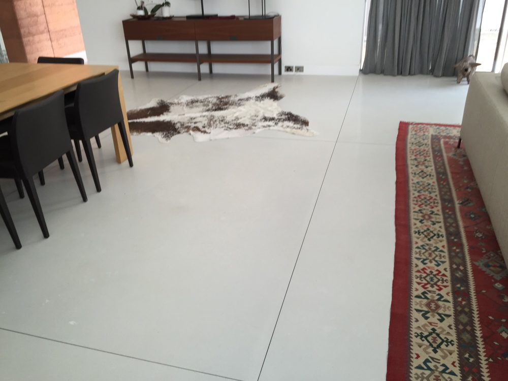 concrete overlay with fine aggregate. Installed by Diamond Shine Polished Concrete