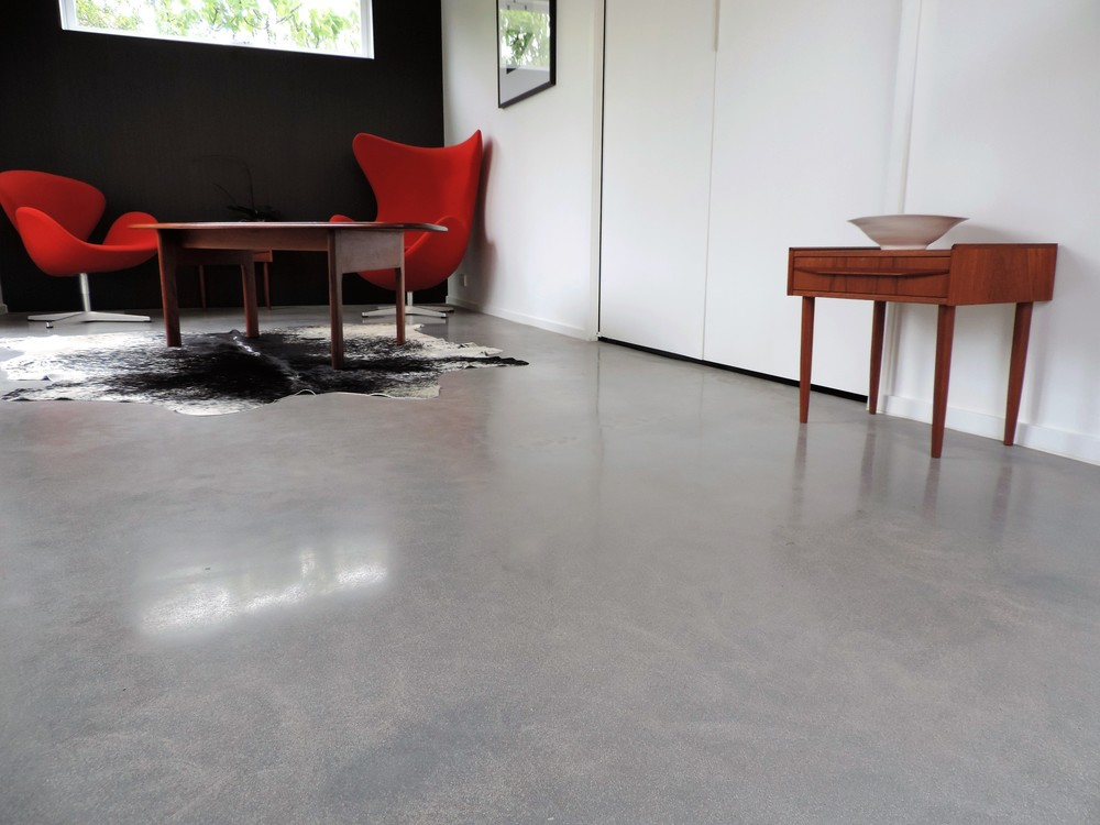 Overlay in studio, colour: concrete in fine sand mix