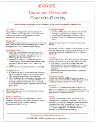 Concrete Overlay Technical Overview
